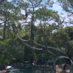 Guy Does Handstand at Considerable Height on Moving Tall Wheel During Quarantine