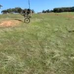 Guy Faceplants After Attempting Jump Over Berm on His Bike