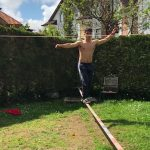 Guy Jumps Over Rope While Slacklining