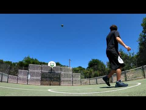 Guy Performs Amazing Basketball Trickshot From Half Court