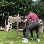 Iron rod Breaks due to Heavy Weight While Guy Uses it to do Squats