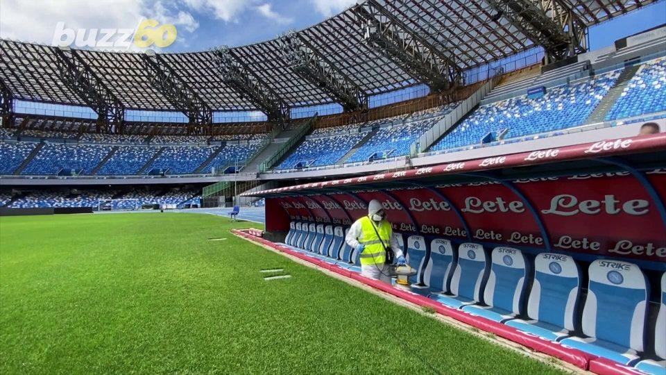Italian Soccer Stadium Cleaned & Sanitized Ahead of Coppa Italia Semi-Final Matches!