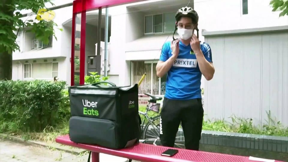 Japanese Olympic Fencer Switches Sabre for Bike to Make Deliveries During Pandemic to Earn Money!