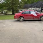 Kid Paints All Cars At Home In White While His Mom Is Away