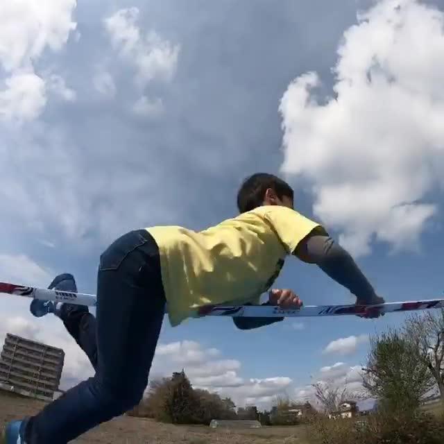 Kid Performs Incredible Tricks On Slackline
