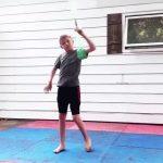 Kid Shows Martial Art Moves Using Bo Staff