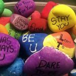 Man Bikes Over 400 Miles to Hand-Deliver Inspirational Painted Rock