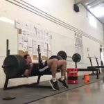 Man Fails to Lift Heavy Barbell During Benchpress