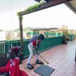 Man Plays Makeshift Baseball Game On His Balcony During Quarantine