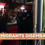 Ocean Viking: 180 migrants begin disembarking rescue ship in Sicily