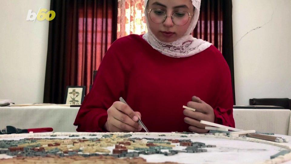 Teen Uses Prosthetic Arm to Help Create Beautiful Mosaics