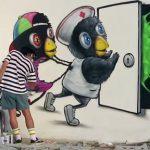 Thai Artist Makes Street Art Depicting Healthcare Workers as Birds Battling Coronavirus!