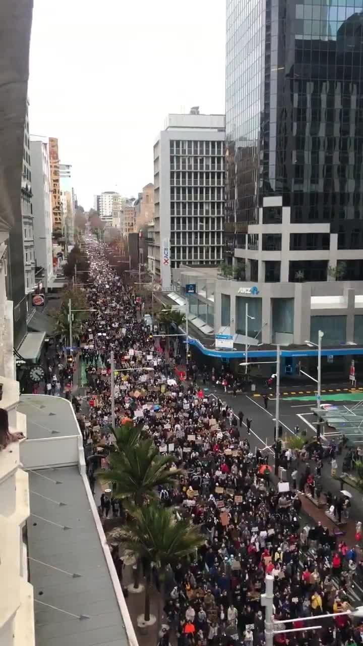 Thousands of People Turn out and March in Solidarity During George Floyd Protests in New Zealand