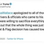 Trump calls on NASCAR's Wallace to apologize for so-called 'hoax'