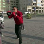 Young Female Boxers Train on Gaza Beach to Avoid Indoor COVID-19 Exposure!