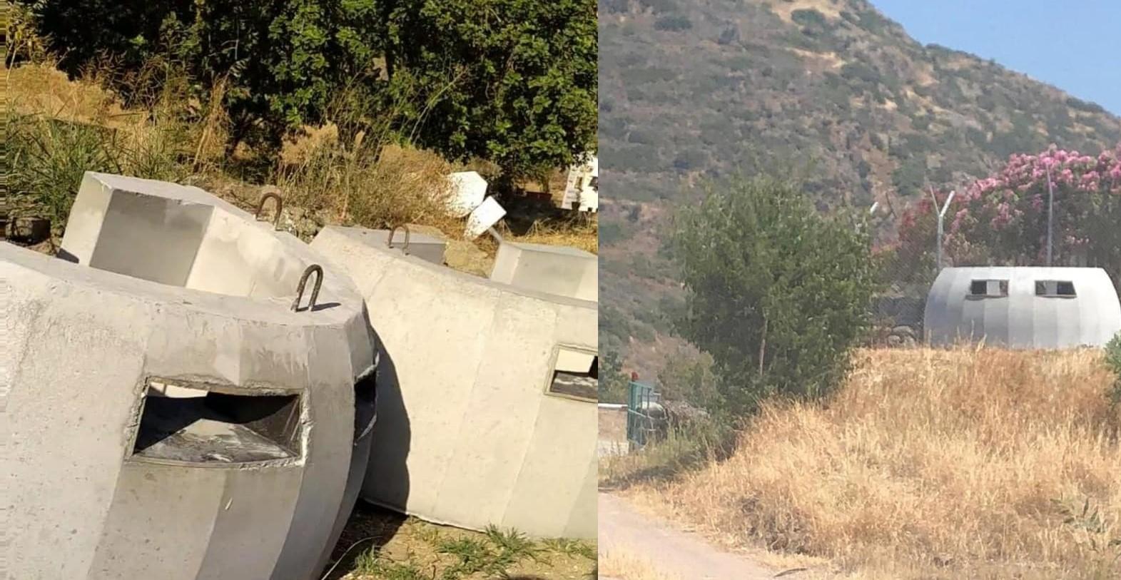South Placing Portable Concrete Heavy Weapon Shields Near Border Crossings 14