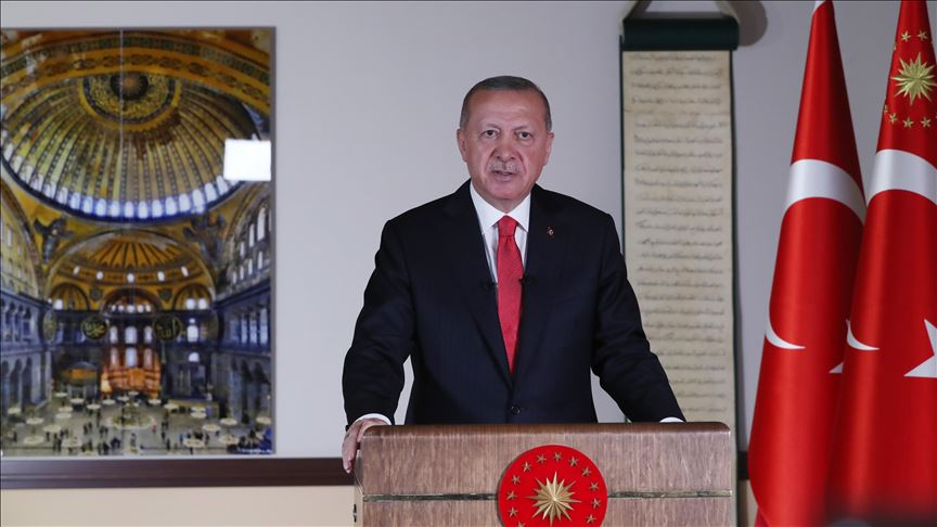 Hagia Sophia to be open for all: Turkish president 12