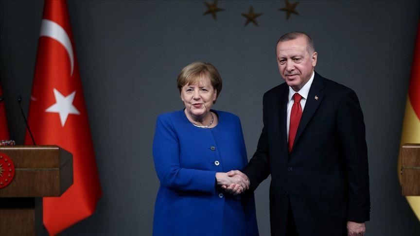 Turkish, German leaders discuss, Syria, Libya 24