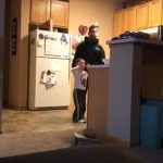 Dad Smacks Bottle Away As Kid Attempts Bottle Flip Challenge