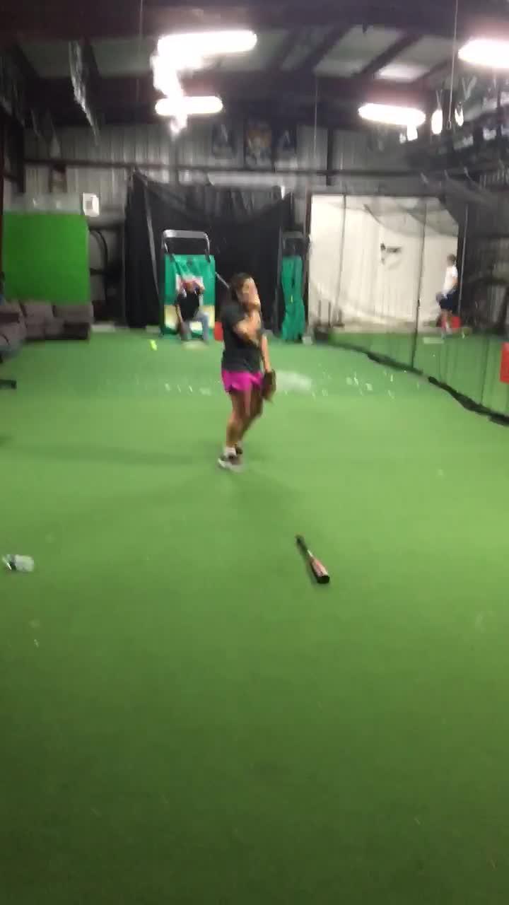 Girl Accidentally Breaks Tube Lights While Pitching Baseball