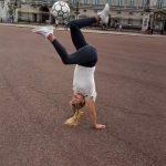Girl Displays Cool Tricks With Football