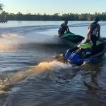 Guy Falls in Water Off Jetski Post Getting hit by Another One