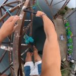 Guy Performs Trick From Rope Swing 53 Feet Above Ground