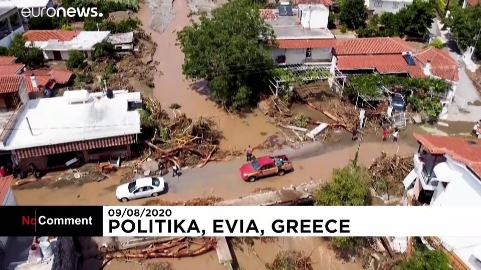 Seven dead after storm causes flooding on Greek island