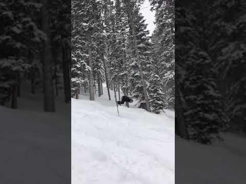 Skier Tries Doing Backflip and Faceplants Hard on Downslope