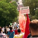 Thousands rally against Putin for fifth Saturday in a row
