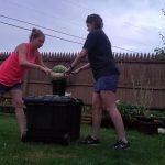 Watermelon Bursts After Women Put Rubber Bands Around It